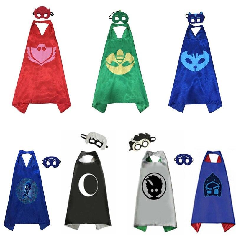 Pj máscaras juguete catboy owlette gekko figuras halloween pj máscara trajes anime cosplay presente de aniversário brinquedos para crianças s69