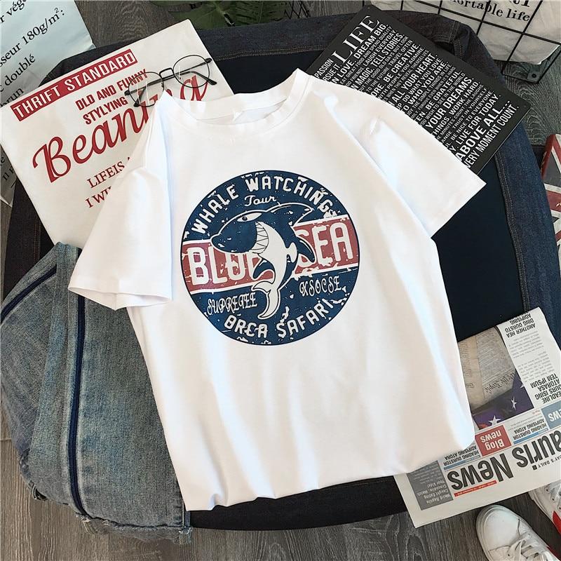 Summer 2020 Women's T Shirt Funny Print T-Shirt Harajuku Oversized Tshirts Agust D Female T-shirts Graphic Tees Women Tops