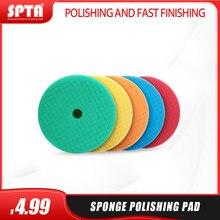 SPTA-almohadillas de pulido de esponja de 6 pulgadas para pulidora DA/RO de 5 pulgadas, almohadillas de pulido de coche, disco de pulido de esponja abrasiva, venta al por mayor