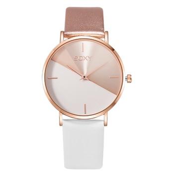 цена top brand women's watch leather rose gold dress female clock luxury brand design women watches simple fashion ladies watch онлайн в 2017 году