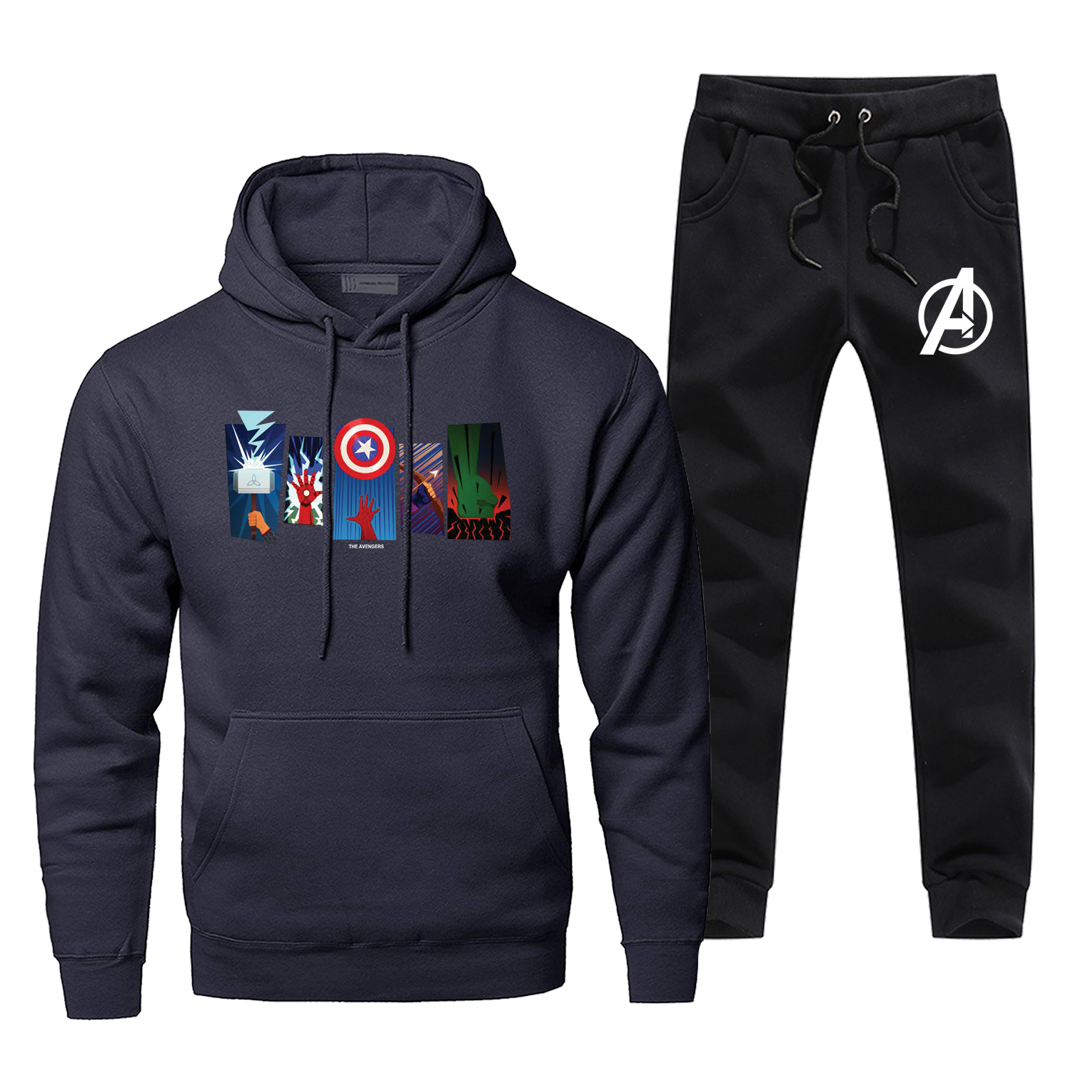 Anengers Thor Iron Man Hoodie Pants Set Men Sweatshirt Male Hoodies Sweatshirts Mens Sets Two Piece Pant Pullover Superhero Coat