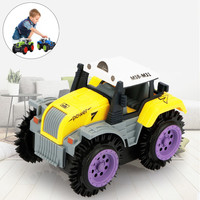 Children Dump Truck Simulation 4 Wheels Drive Jeep Electric Stunt Toy Car Farm TractorModel FH5