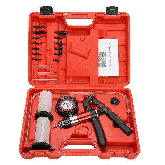 Auto narzędzie diagnostyczne samochód Auto ręczny pistolet próżniowy pompa hamulca odpowietrznik adapter zbiornik płynu Tester oleju zestaw narzędzi