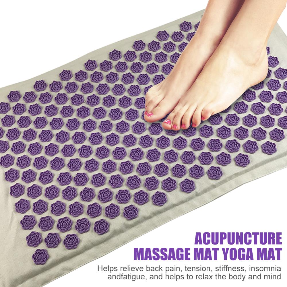 Winter Lotus Spike Acupressure Massager Mat Relaxation Relief Stress Tension Body Yoga Mat Relieve Body Stress Pain Cushion Mat