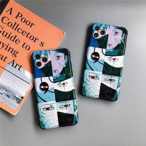 Чехол Какаши Обито для iPhone 11 pro 7 8 plus X XR XS Max чехол для телефона s новейший японский аниме Шаринган Наруто ТПУ задняя крышка чехол