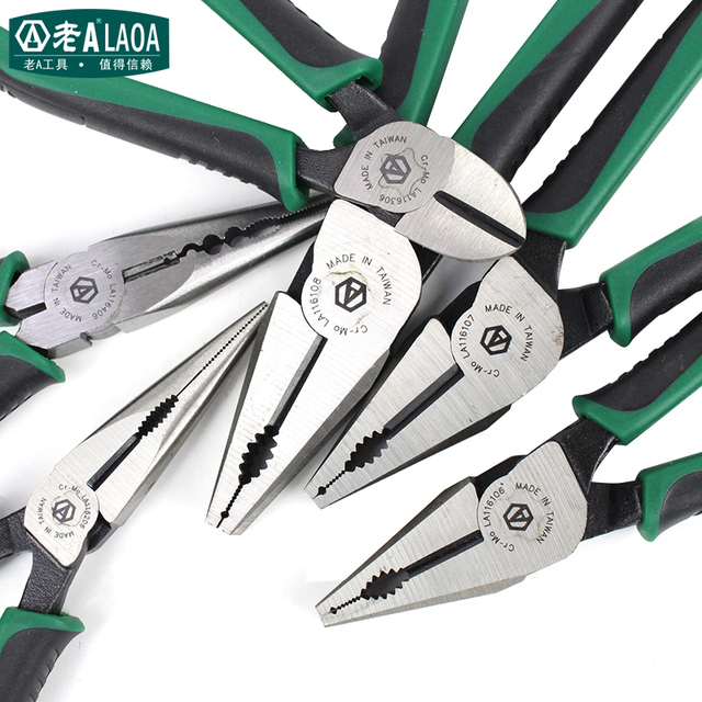 LAOA American style Pliers CR MO Combination Pliers Long Nose Plier Fishing Pliers Wire Cutter Stripping Tools For Electrician