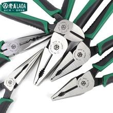 LAOA American style szczypce CR MO kombinerki szczypce półokrągłe szczypce wędkarskie przecinak do drutu narzędzia do zdejmowania izolacji dla elektryka