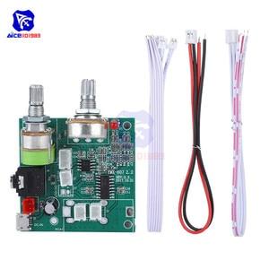 Image 3 - Diymore Módulo de tarjeta de amplificador estéreo Digital, 5V, 20W, 2,1 canales, 3D Surround, Clase D, para Arduino con cables