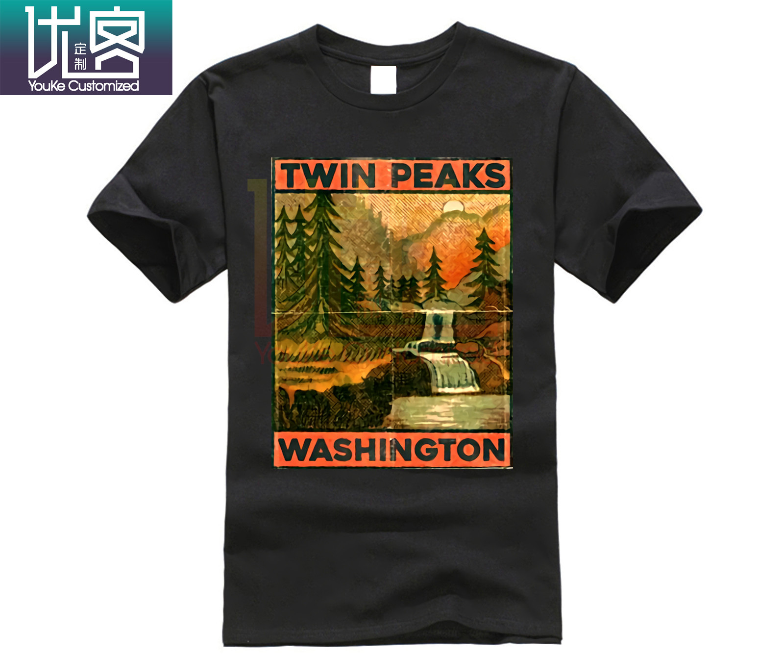 Twin Peaks TV Movie T Shirt (t-shirts Cult Movie Agent Cooper David Lynch) 100% Cotton Short Sleeve Summer T-Shirt image