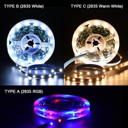 5 pièces/ensemble LED bande lumineuse USB 2835 SMD DC5V ruban LED RGB 1M 2M 3M 4M 5M TV écran de bureau rétro-éclairage Diode bande Luces led