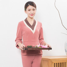 Posture Beautician Workwear Autumn And Winter Beauty Salon Workwear Suit Pants Health Hall Spa Club Tools