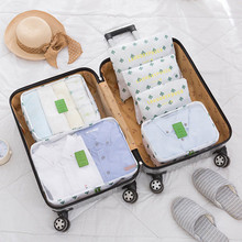 6Pcs/set Baggage Travel Organizer Bags Waterproof Packing Bag Clothes Arrange Storage Accessories