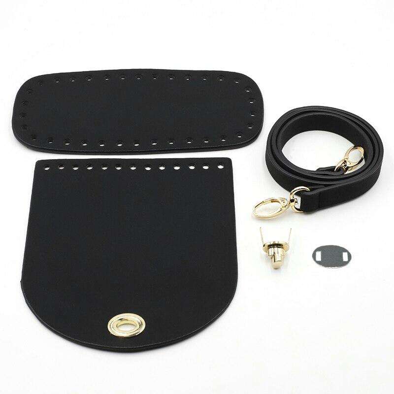 New Shoulder Strap Handmade Handbag Woven Bag Set Leather Bag Bottoms With Hardware Accessories for DIY Handbag Shoulder Bag