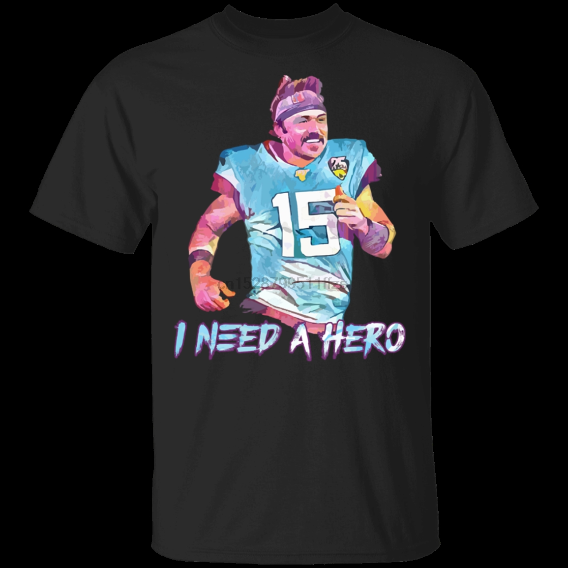 Men/'s Gardner Minshew I Need A Hero Short Sleeve Black T-Shirt S-5XL