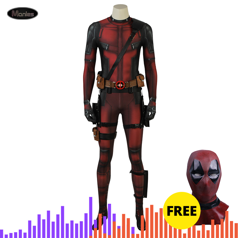 Cosplay Deadpool 2 Costume Suit Clothing Wade Wilson Men A Grandfather's Daddle Jumpsuit Fantasy Adult Halloween Superhero Movie