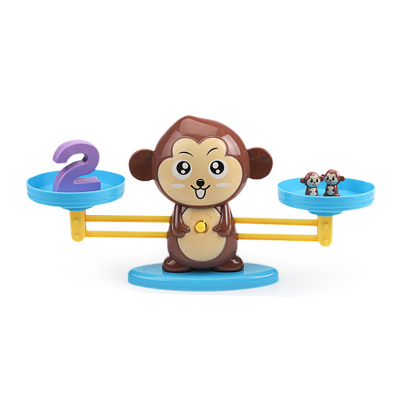 Monkey Balance Scale Mathematics Early Childhood Education Tools Arithmetic Addition And Subtraction Card Game Educational Toys