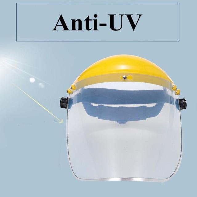 Protective Full Face Mask Welding Helmet Anti-UV Saliva Safety Anti Virus Shield Visor Workplace Protection Supplies