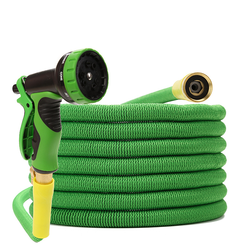Manufacturers Hot Sales 3 Times Extendable Magic Hose Garden Gardening Cleaning Water Gun Pack High Pressure Car Washing Gun Who