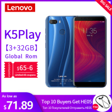 Global Version Lenovo Mobile Phone 3GB 32GB K5 Play Face ID