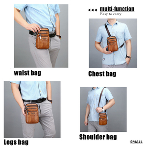 Image 5 - JEEP BULUO Multi function Small Sling Chest Bag Legs Waist Bag For Man New Fashion Casual Crossbody Men Messenger Bags