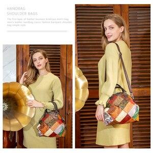Image 5 - WESTAL damska torba 2020 torba na ramię dla kobiet prawdziwej skóry luksusowe torebki damskie torebki projektant kwiatowy skórzana torebka damska