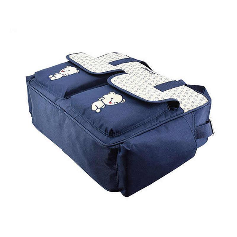 ใหม่ Multifunction Mummy ผ้าอ้อมกระเป๋าขนาดใหญ่ความจุกันน้ำผ้าอ้อมกระเป๋าคลอดบุตรพยาบาลแขวนกระเป๋า