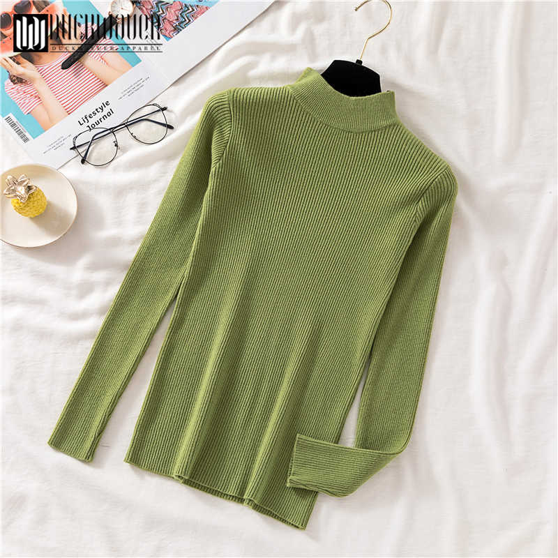 Duckwaver Thick Turtleneck Warm Women Sweater Autumn Winter Knitted Femme Pull High Elasticity Soft Female Pullovers Sweater
