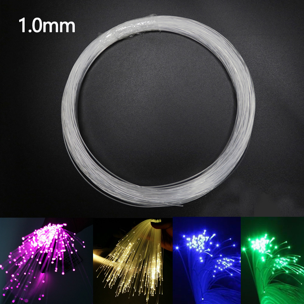 Plastic Fiber Optic Cable End Glow 1.0mm 100-300M/roll PMMA Led Light Clear DIY For LED Star Ceiling Light Decoration