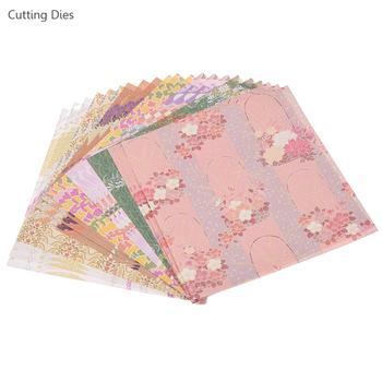 24 arkusze dużo Vintage tło z kwiatami papier dekoracyjny na tworzenie kartek Diy papier origami rzemiosło szczęśliwy planner Journaling tanie i dobre opinie Cutting dies paper