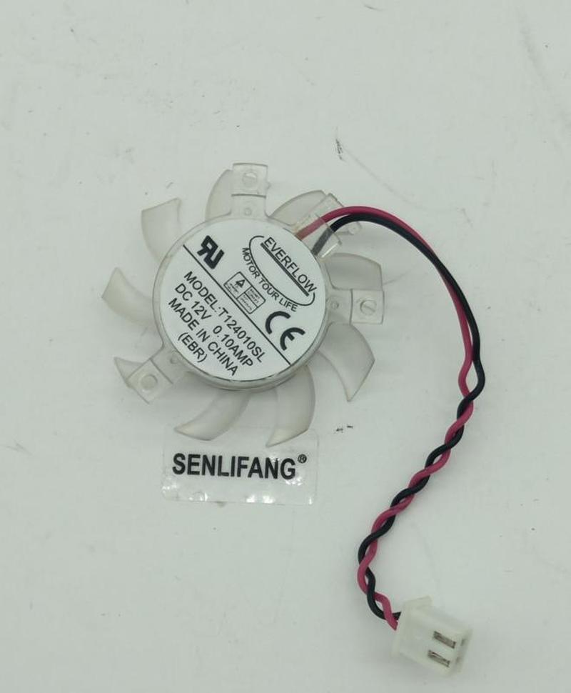 For T124010SL 37mm 23x29x29mm 12V 0.10A 2Pin For Gigabyte GT210 Card Cooler Cooling Fan