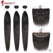 Peruvian Straight Human Hair Bundles With Frontal Closure Remy Lace Frontal 13x4 360 Lace Frontal With Bundles