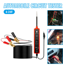 ABS Auto Digital Power Probe Circuit Tester Battery Probe Circuit Electrical Tester 6-24V DC Probe Circuit Tester W/4m Cable