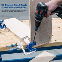 Jigs de ángulo recto de 90 grados, montador de punzón fijo, abrazadera de esquina, herramienta de carpintería, juntas en T, KHCCC para Jigs