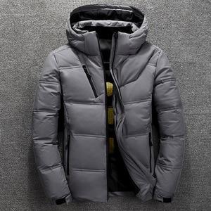 Image 3 - 2019 חורף מעיל גברים באיכות גבוהה תרמית עבה מעיל שלג אדום שחור Parka זכר חם להאריך ימים יותר גברים אופנה לבן ברווז למטה מעיל