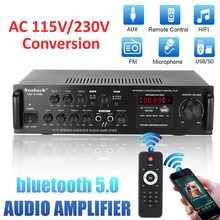 AMPLIFICADOR DE POTENCIA DE Audio estéreo para coche, HIFI, 5 CANALES, 2000W, bluetooth, Radio FM, sistema de sonido de Subwoofer para música para cine en casa