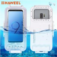 HAWEEL for Galaxy Huawei Xiaomi Diving Housing Case Waterproof 45m Photo Video Taking Underwater Cover Case Google Android OTG