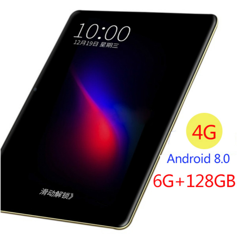 New 10.1 Inch Tablet Pc Android 8.0 Ten Core 6GB Ram 128GB ROM 1280x800 IPS Glass Screen 4G LTE Wifi Bluetoth GPS Phone Tablets