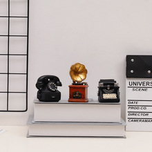 Radio-Model Camera Phonograph Nostalgia Home-Decor Vintage Gifts Resin Crafts Living-Room