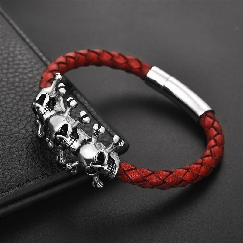Bracelet gothique crâne  4