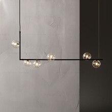 Скандинавская Минималистичная дизайнерская люстра со стеклянными шариками, креативный художественный молекулярный зал, гостиная, ресторан, подвесные светильники