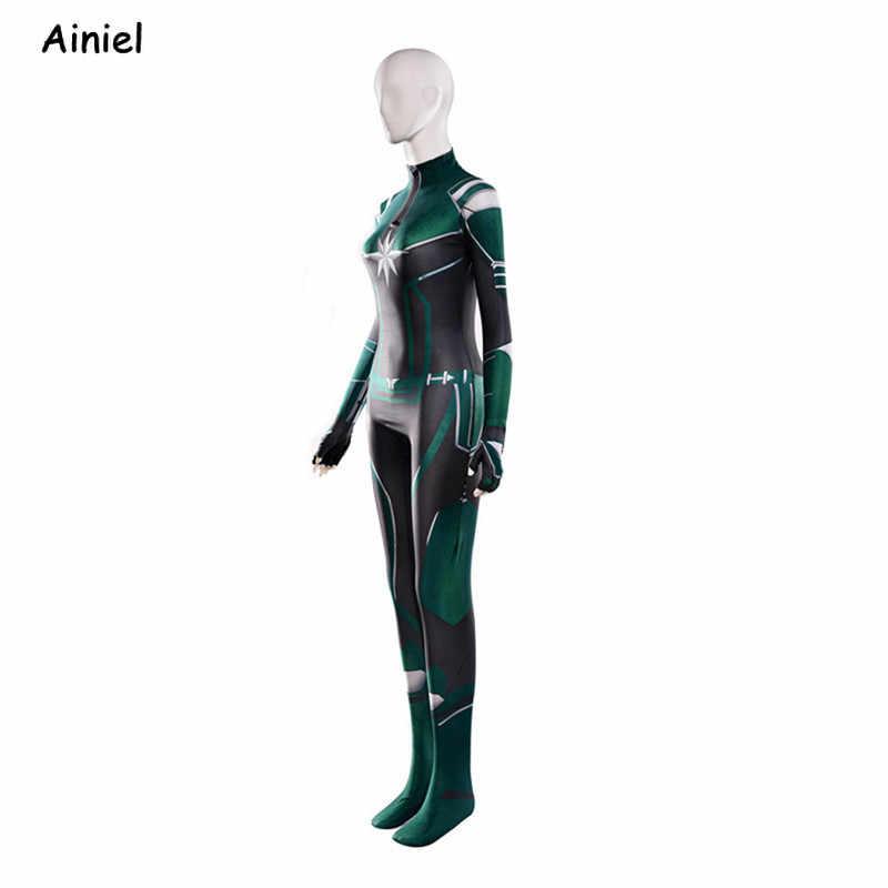 Filme capitão marvel cosplay traje carol danvers super-herói zentai bodysuit traje de halloween feminino adulto crianças