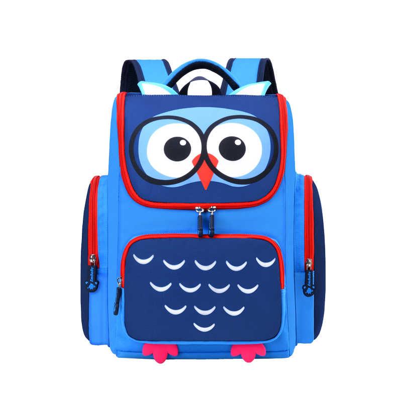 Eule kinder schulranzen kinder Schule Taschen mädchen jungen cartoon grundschule rucksack orthopädische rucksack kinder mochila infantil