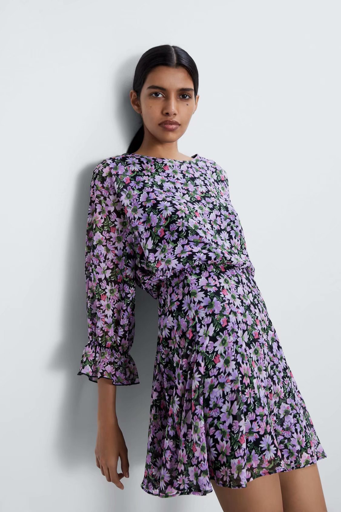 2020 New Spring Summer New Style European Printed Women female Dress zaraing vadiming sheining women dress