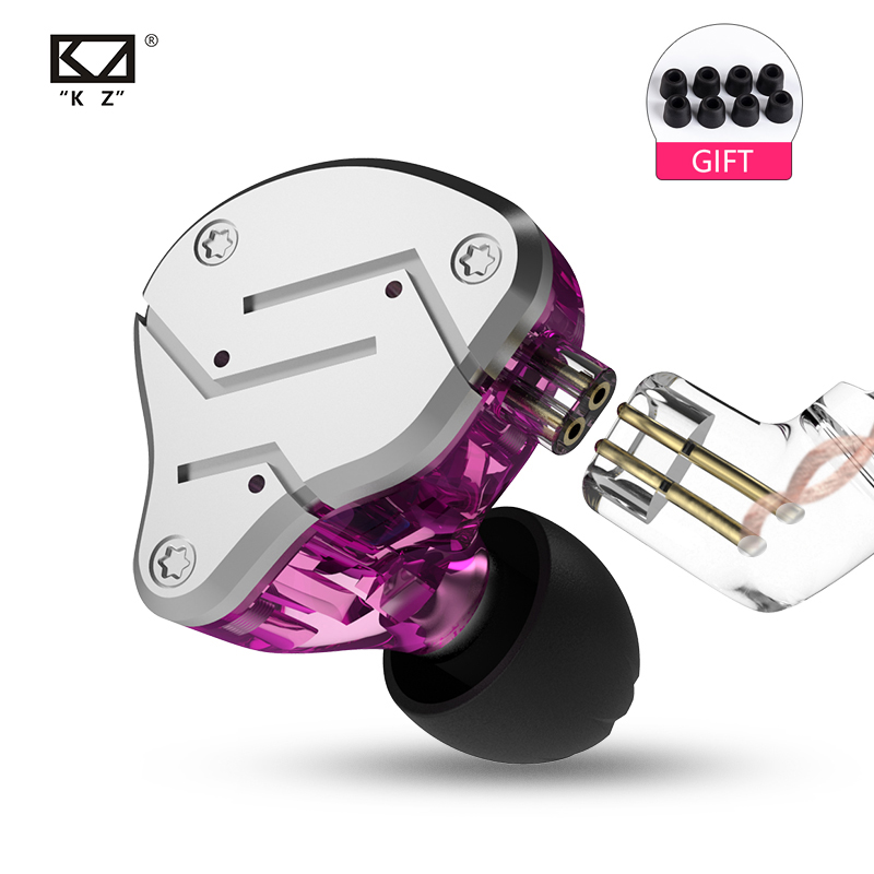 KZ ZSN HIFI In Ear Earphone BA+DD Hybrid Headset Bass Earbuds With Mic KZ ZST ZSNPRO ZS10 AS10 BA10
