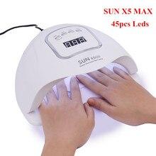 30 Вт, 80 Вт Светодиодный УФ-лампы для ногтей сушилка светодиодный ногтей белый светильник ногти гели маникюр, машинка для маникюра с кнопка таймера USB разъем и нейл-арта