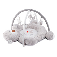 Music Bear Baby Game Blanket Infant Fitness Rack Activity Baby Play Gym Mat Puzzle Toys Toddlers  Soft Plush Crawling Mat 0-2Y