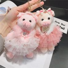 Creatieve Varken Zodiac Leuke Trouwjurk Piggy Vrouwen Kleine Gift Bag Auto Sleutelhanger Sleutelhanger Hanger