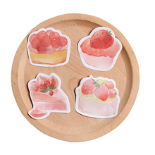 1pack/lot Cute Kawaii Cake Afternoon Tea Series Notes Four Selections School Supplies Correction Stationery