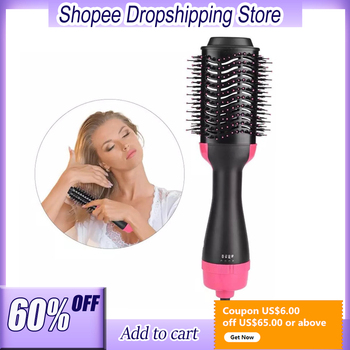 Salon ONE STEP Blow Dryer Volumizing Hair Dryer Comb Hot Air Brush Cold Wind Styler Hair Straightening Curling Tool Dropshipping image