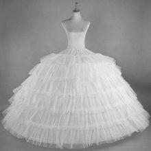 Saias brancas de tule com 6 capuz, para vestido de casamento, plus size, fofo, saia de baile, crinolina, pettycoat, saia